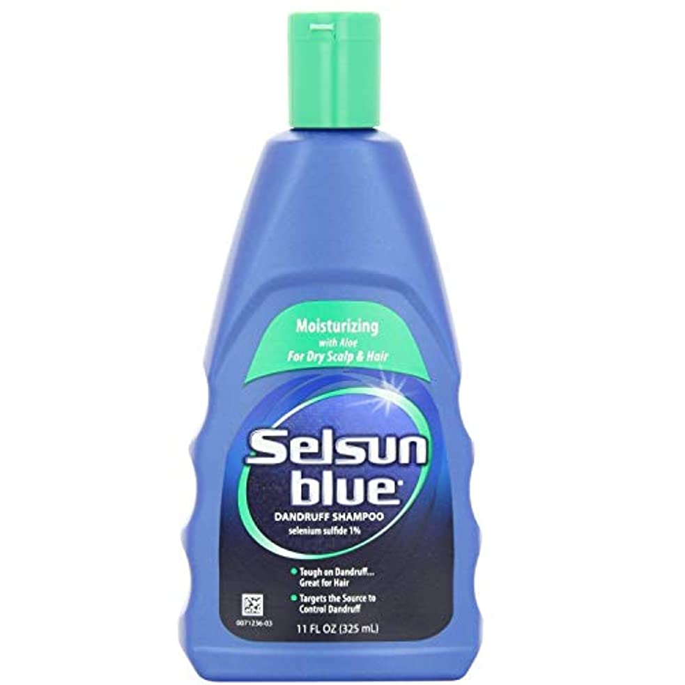 完全に乾く接触血色の良いSelsun Blue Dandruff Shampoo, Moisturizing with Aloe for Dry Scalp and Hair, 11 Ounce by Selsun Blue [並行輸入品]