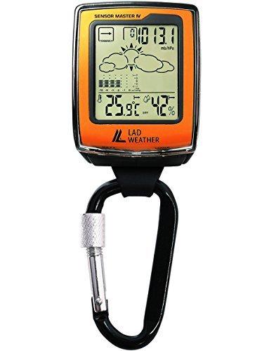 [ラドウェザー]カラビナ時計 デジタルコンパス 高度計 気圧計 温度計 気温計 湿度計 天気予測 トレッキング ハイキング キャンプ サイクリング