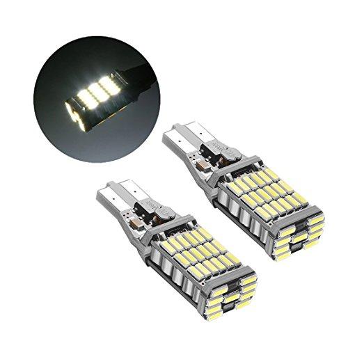 「SUPAREE」 T10 T15 T16キャンセラー内蔵バックランプクリアランスランプ4014チップ45連搭載無極性 CANBUS キャンセラー内蔵 6000K 1300lm2個セット一年保障付き