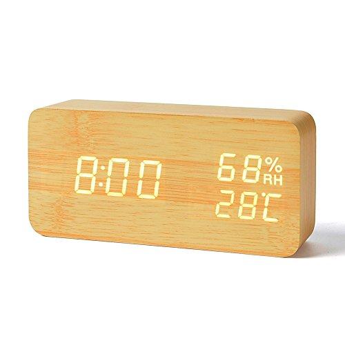 FiBiSonic デジタル 置き時計 温度湿度計