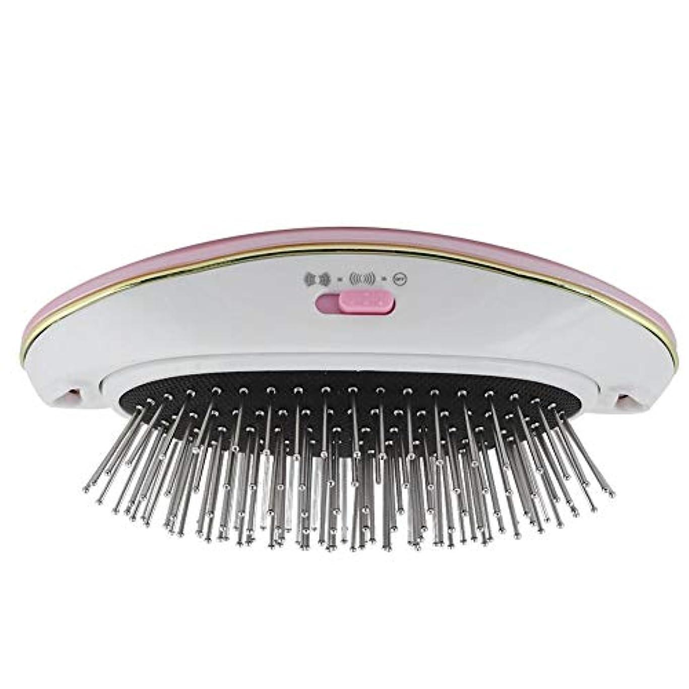 デコレーション感染する契約するヘアーコーム 電動ヘアブラシ リラックススカルプ 育毛スカルプ マッサージ 振動防止 髪喪失ストレート ヘアコーム 小型 携带用(Pink)