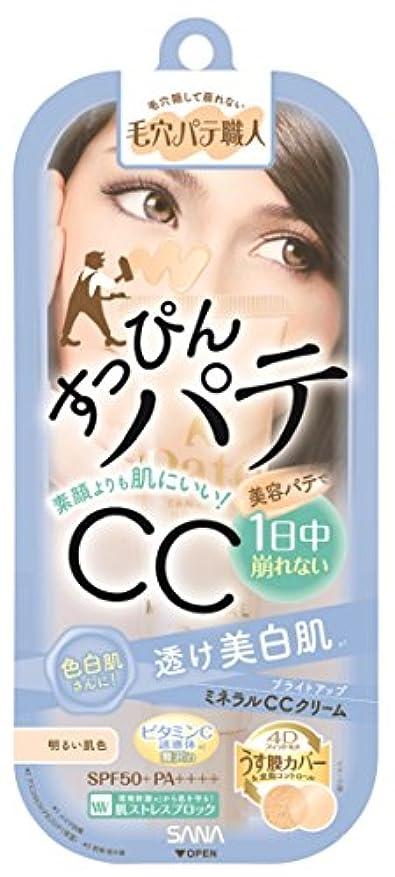 提供されたレベル自然毛穴パテ職人 ミネラルCCクリーム ブライトアップ 明るい肌色 30g 色白さんに