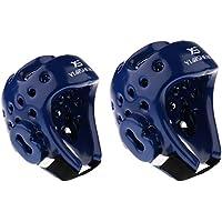 Perfk ヘルメット EVA製 超耐久性 帽子 怪我防止 頭保護 MMA 武道 ボクシング M/L 2個入り