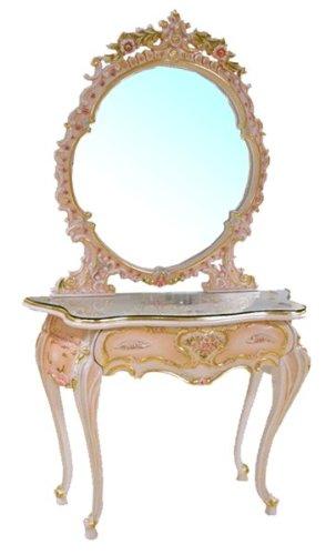 輸入家具:お姫様のロココ調家具:ドレッサー2点セットAR1203s-7733