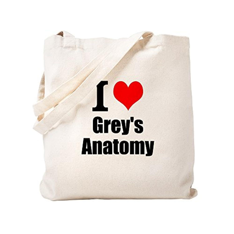 CafePress – I Love Greys Anatomy – ナチュラルキャンバストートバッグ、布ショッピングバッグ S ベージュ 1819713380DECC2