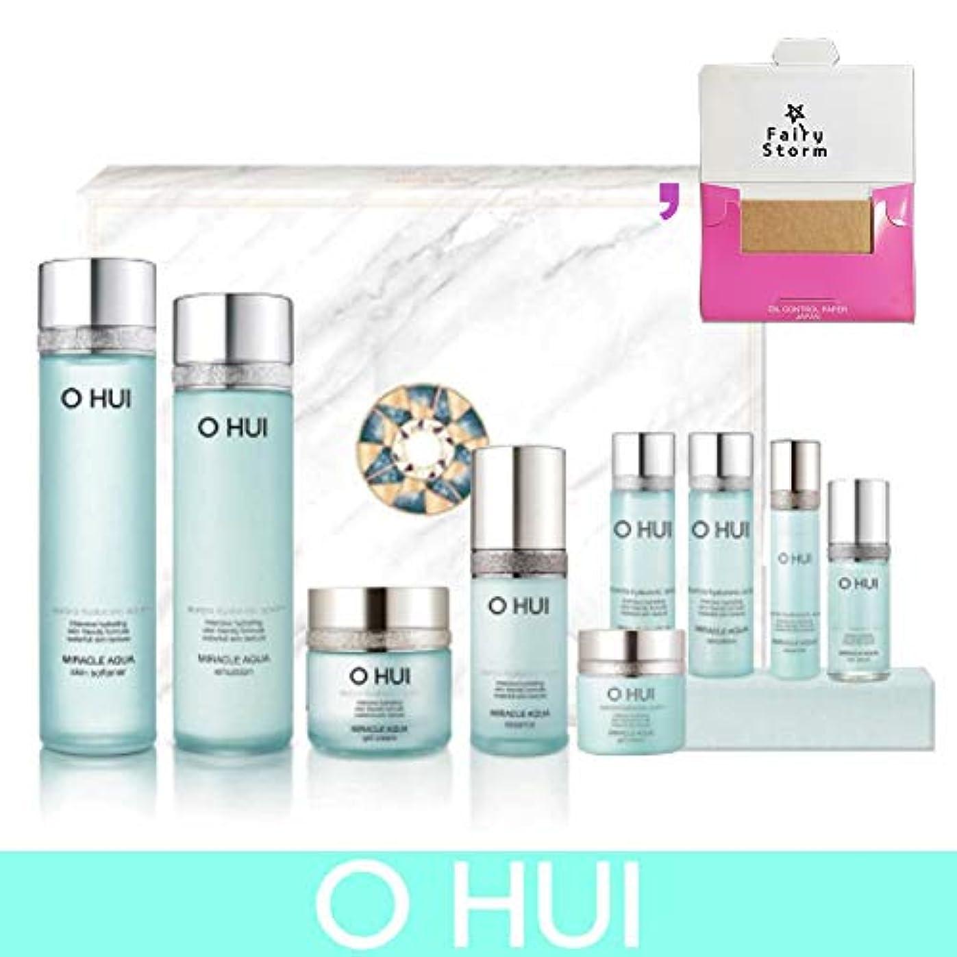 鹿記憶強制的[オフィ/O HUI]韓国化粧品 LG生活健康/O HUI MIRACLE AQUA SPECIAL 4EA SET/ミラクル アクア 4種セット + [Sample Gift](海外直送品)
