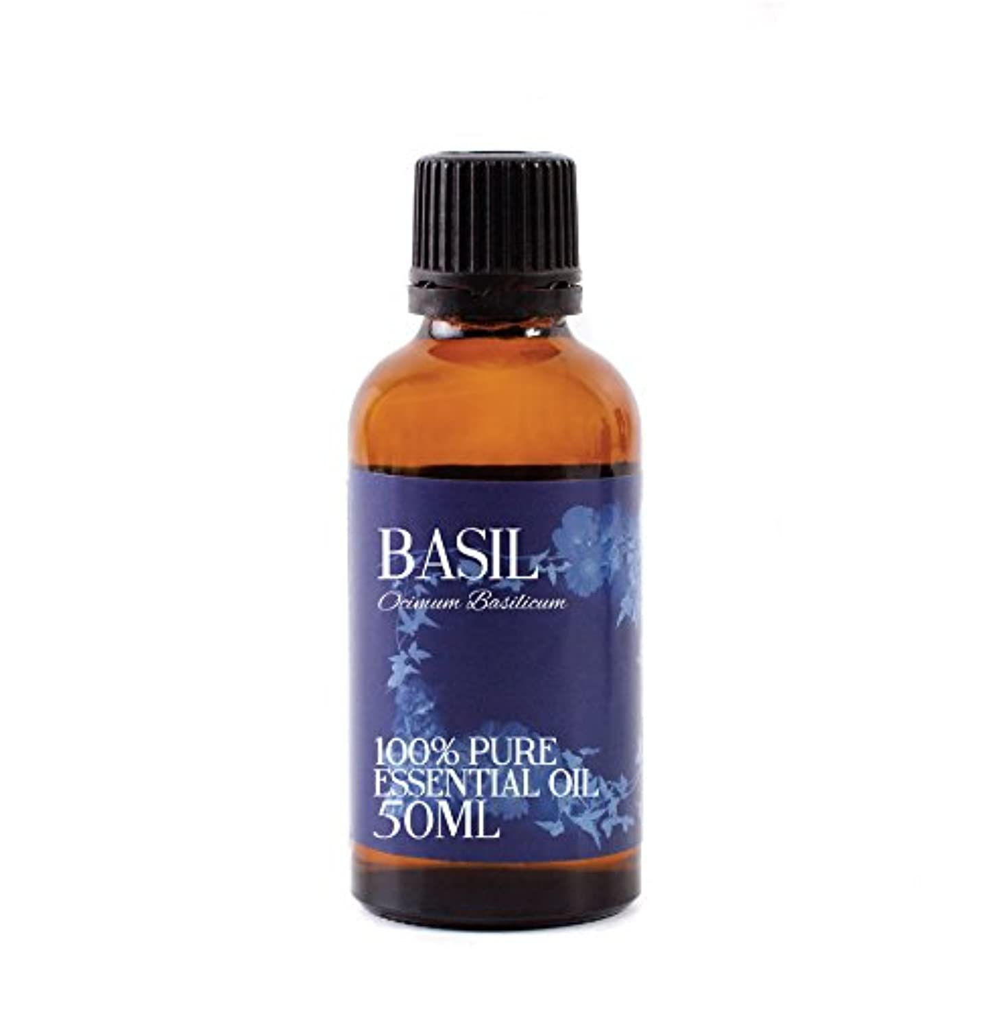 閃光おびえた証明するMystic Moments | Basil Essential Oil - 50ml - 100% Pure