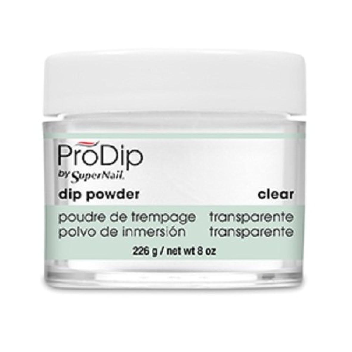 かかわらず角度櫛SuperNail - ProDip - Dip Powder - Clear - 226 g/8 oz