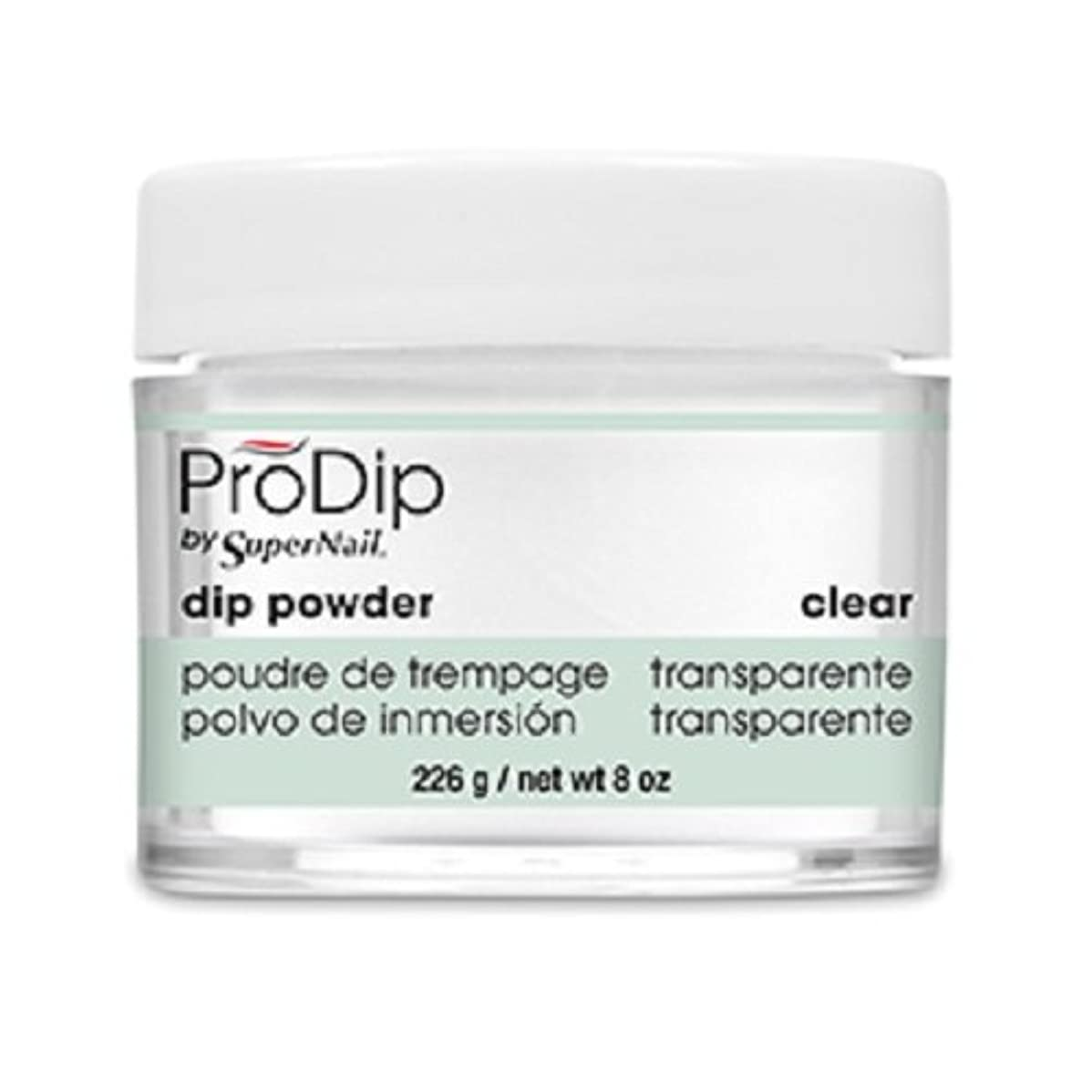 二度バイアスコピーSuperNail - ProDip - Dip Powder - Clear - 226 g/8 oz