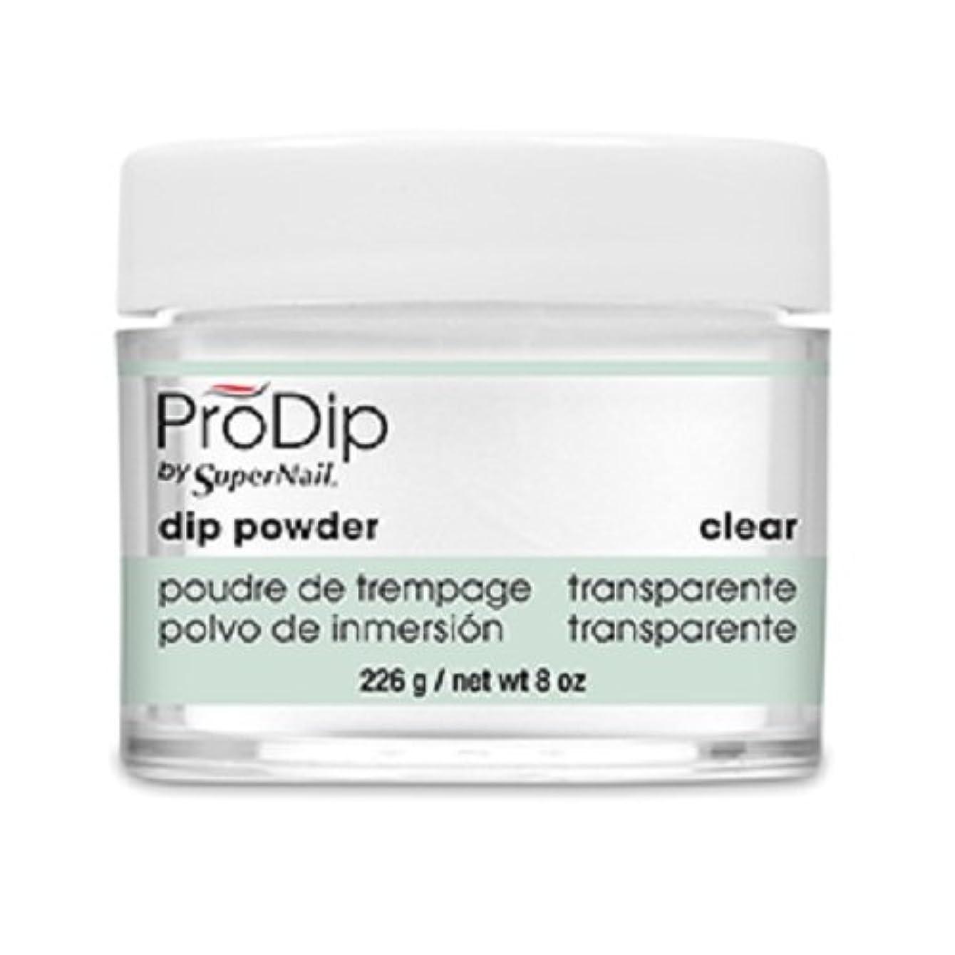 温度計津波エトナ山SuperNail - ProDip - Dip Powder - Clear - 226 g/8 oz