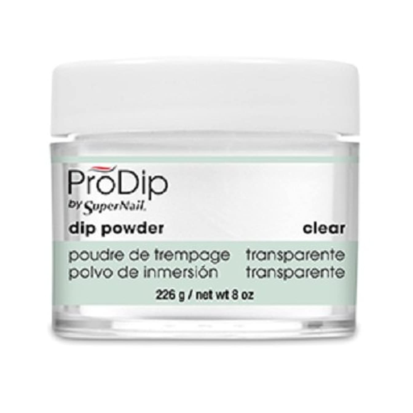 お別れ検査教えるSuperNail - ProDip - Dip Powder - Clear - 226 g/8 oz