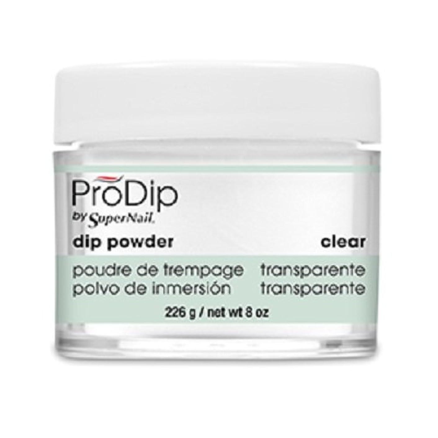 倍率カウンターパート順応性SuperNail - ProDip - Dip Powder - Clear - 226 g/8 oz