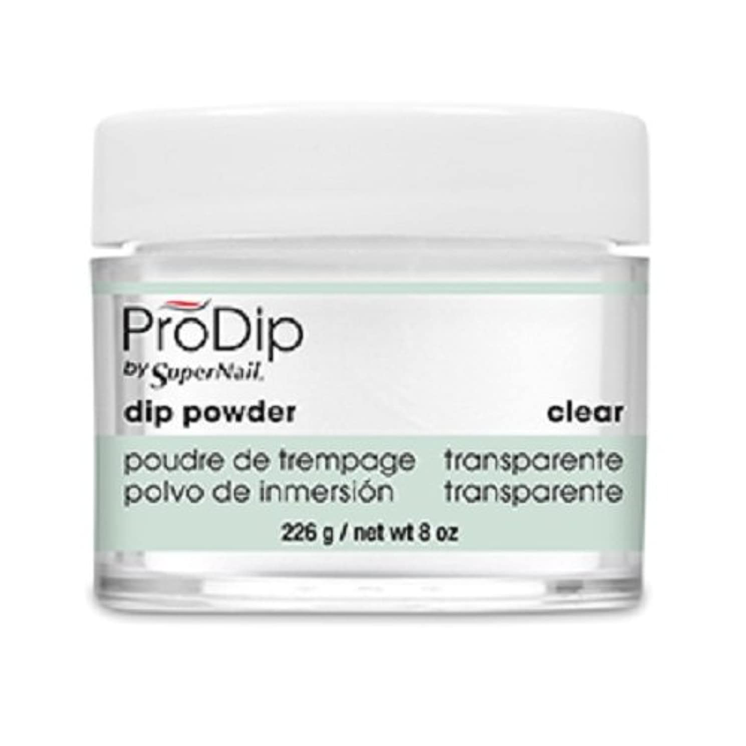 激しい霜拘束するSuperNail - ProDip - Dip Powder - Clear - 226 g/8 oz