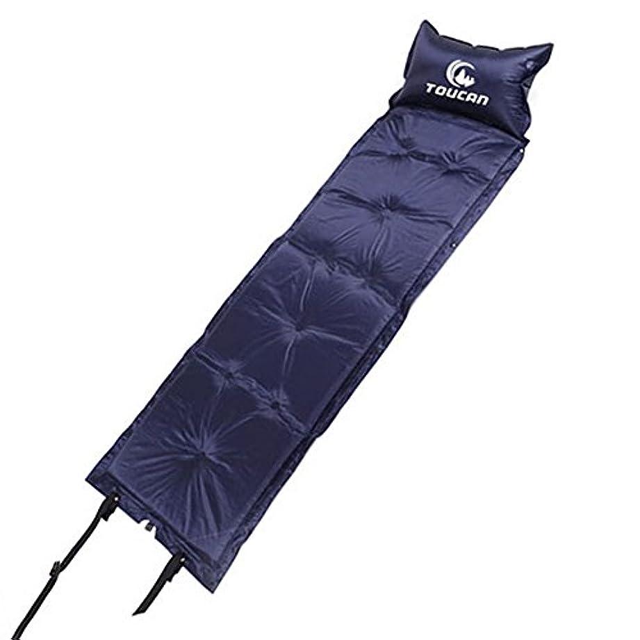 待って無関心器具Luller Sleeping Pad – 超軽量ポリエステルタフタ日常生活防水軽量デフクラブパッドマットwith枕74