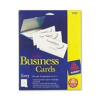 Avery ®標準two-side印刷可能Microperforatedビジネスカードカード、バス、LSR、250/ PK、アイビーpa636X b4nn (パックof8)