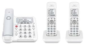 Pioneer デジタルコードレス電話機 子機2台付き 迷惑電話対策・留守番・ナンバーディスプレイ機能搭載 グレー TF-FE30T-H
