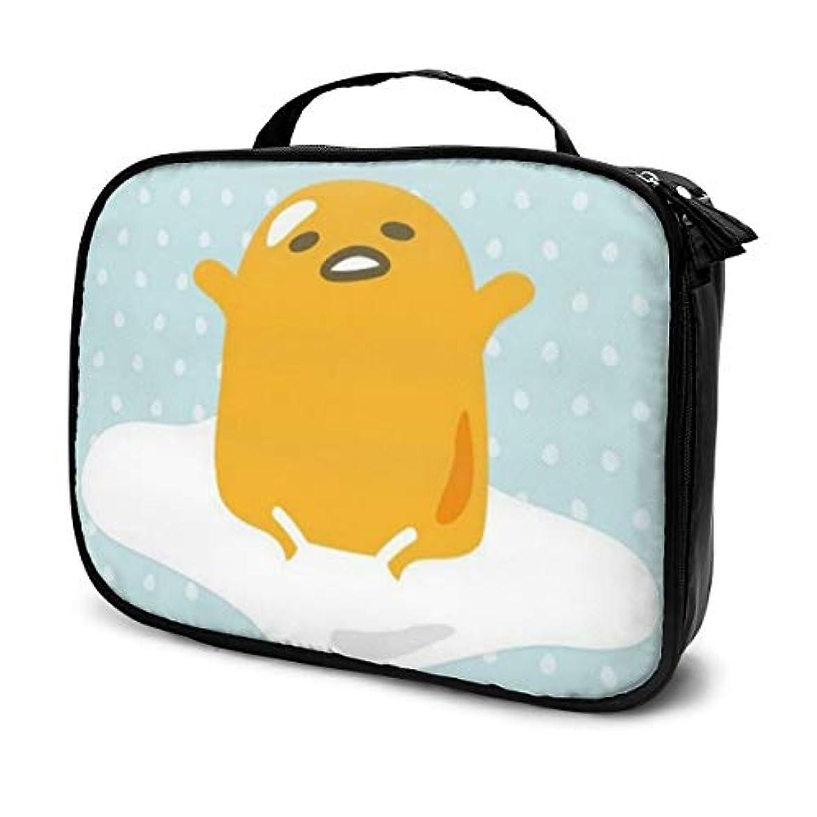 全国ベッドを作るチートぐでたま 化粧ポーチ 化粧バッグ メイクボックス コスメバック 化粧箱 大容量 機能的 便携式 收納抜群 プロ用 旅行 家用