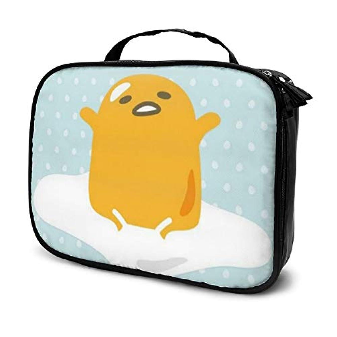写真を描くプレゼン素晴らしきぐでたま 化粧ポーチ 化粧バッグ メイクボックス コスメバック 化粧箱 大容量 機能的 便携式 收納抜群 プロ用 旅行 家用