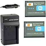 DSTE® アクセサリーキット NP-BN1 互換 カメラ バッテリー 2個+充電キット対応機種 Cyber-shot DSC-W580 W610 WX50 QX100 T110 TF1 TX20 TX30 W330 W350