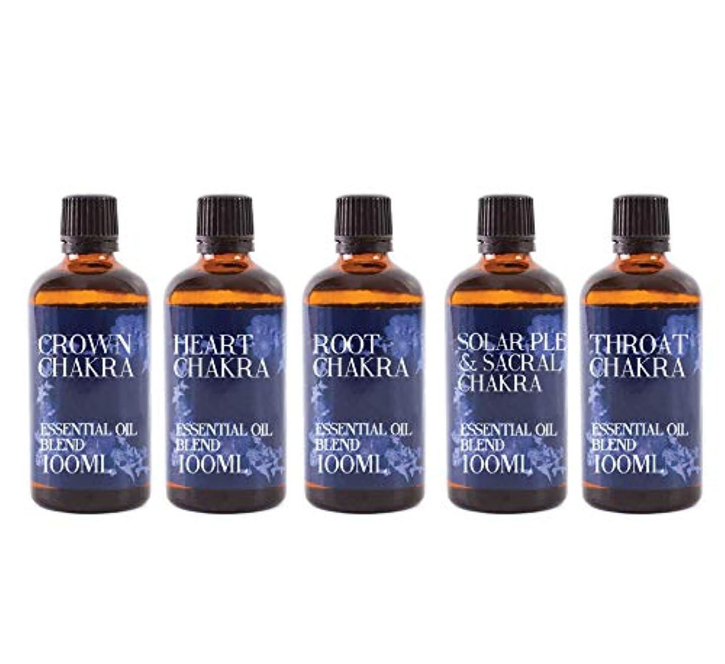 確立雄弁賢明なMystic Moments   Gift Starter Pack of 5 x 100ml - Chakra - Essential Oil Blends