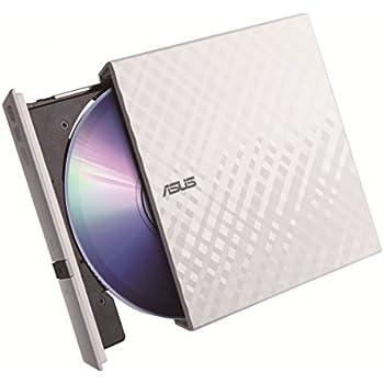 ASUS外付けDVDドライブ 軽量薄型/ダイヤモンドカットデザイン/M-DISC/バスパワー/Win/Mac/書込みソフト付属/ブラック SDRW-08D2S-U LITE/WHT