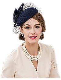 【ノーブランド品】 レディースチュール付き立体花ヘッドドレス 礼装帽子