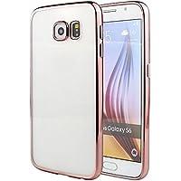 YATATECH Samsung Galaxy S6用ケース 衝撃吸収バンパー アンチスクラッチ 防塵 超薄い 透明ソフトTPU 軽量 ギャラクシー S6用ケースカバー(ローズゴールド)