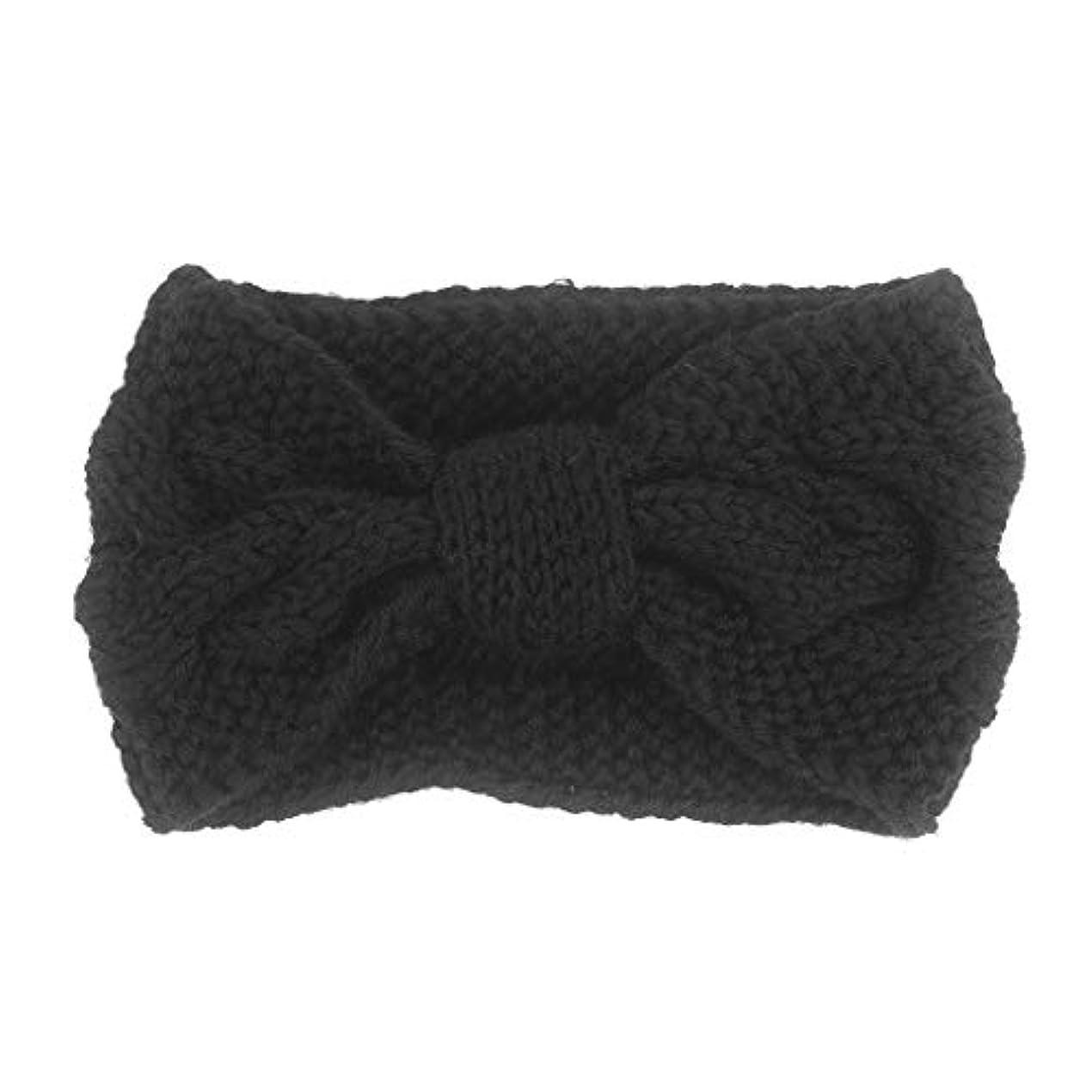 程度落ち着いた特徴づける1st market 丈夫なニットヘアバンドかぎ針編みツイスト耳暖かい冬編組ヘッドラップ用女性女の子