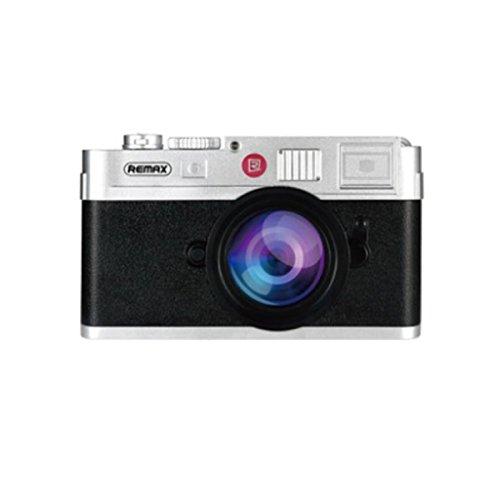 REMAX LYCRA(ライクラ) モバイルバッテリー コンパクトカメラ型デザイン ABS樹脂+リチウムポリマー (ブラック) RPP-31-BK