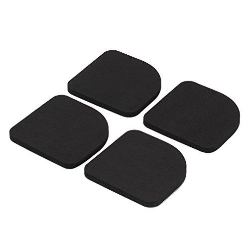 振動吸収 フローリングの傷防止 防音対策 静かに洗濯 簡単設置 家具用マット 4枚入り