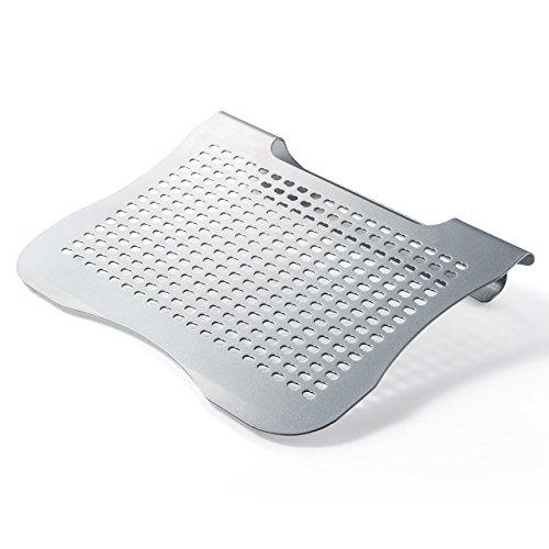 サンワダイレクト ノートパソコンスタンド スチール製 角度約15度 姿勢改善 100-CR012
