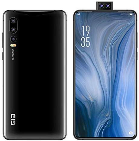 ELEPHONE U2 Android 9.0 Smartphone 4G Unlocked-6.26インチ第6世代フルビュースクリーン(超狭額縁デザイン)、16MP昇降フロントカメラ(ポップアップ)、Helio P70 Octa Core 4GB + 64GB (U2 64GB, 黒)