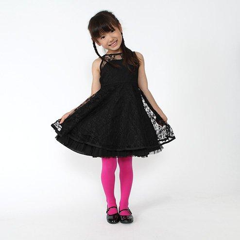 7ff82e5ee14c3  靴下屋 クツシタヤ キッズ 80デニールスポンディッシュタイツ105cm(95~115cm) 日本製 ローズピンク