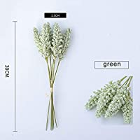 ホームデコレーションPPハウス植物盆栽RamasデTrigoため6PCS穀物フラワー人工芝支店フェイク植物人工樹木