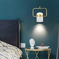 シャンデリア- 現代のミニマリストの小さなシャンデリア金属材料寝室研究ベッドサイドシングルヘッドLED小さなシャンデリア (色 : C)