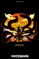 """Notebook: Tailed Beast Unleashed , Journal for Writing, College Ruled Size 6"""" x 9"""", 110 Pages"""