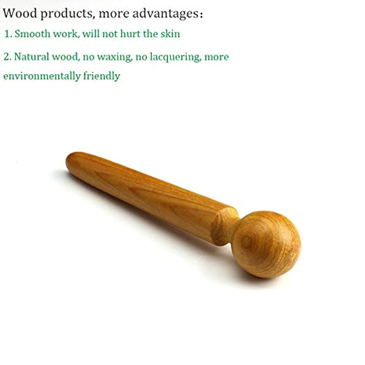DC 木製マッサージャー 木製フットポイントスティック 鍼治療ポイントロッドSPAボディフットマッサージツール 疲労緩和