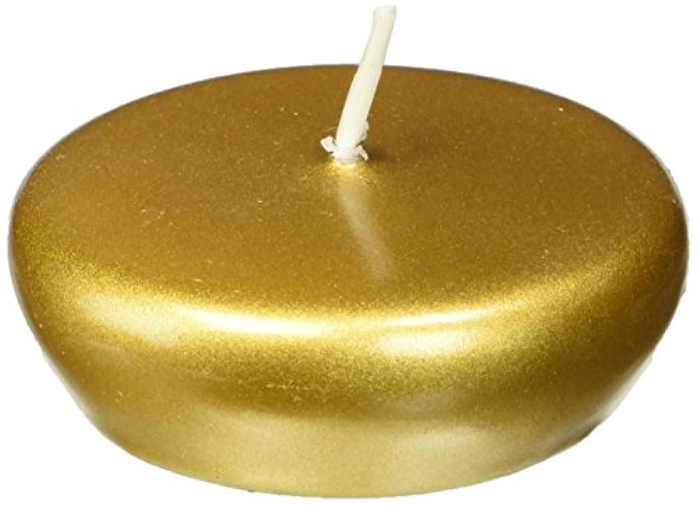 発表する横向きむしろZest Candle CFZ-099 2 1-4 in. Metallic Bronze Gold Floating Candles -24pc-Box
