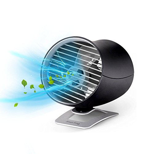 USB扇風機 卓上扇風機 ミニ扇風機 超静音 強風 USBケーブル1m付き タッチスイッチ 二重羽根反転 角度調節 風量2段調節 持ち運びに便利 卓上ミニファン
