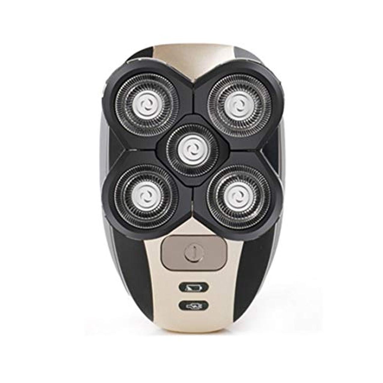 ジョガー急性特異性シェーバーシェービングヘッド電気充電式かみそりクリッパーメンズトリミングセット-Rustle666