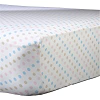 Abstract Baby Polka Dot Print Extra Deep Fitted Jersey Crib Sheet (28 x 52 Multi-Color) [並行輸入品]