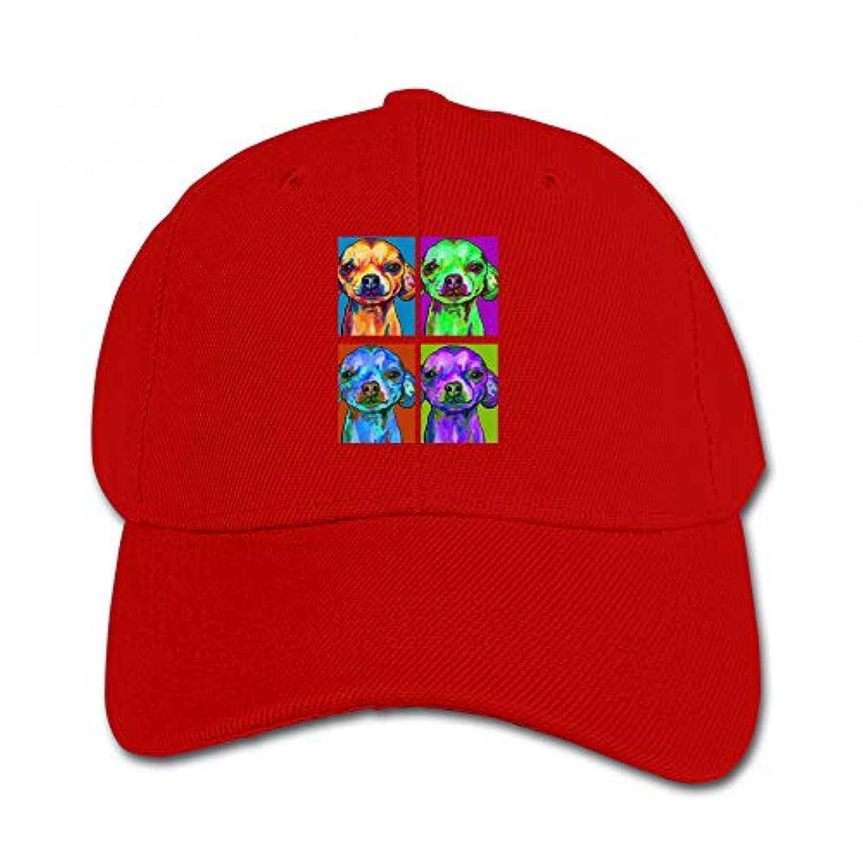 チワワ ポップ アート おもしろい キャップ 多彩 ハット ファッション 鳥打ち帽 子供 通学 アウトドア 帽子