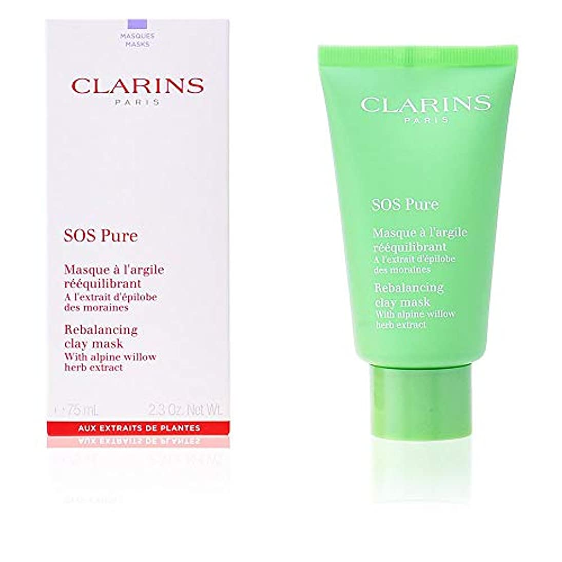 時代遅れ防止正気クラランス SOS Pure Rebalancing Clay Mask - Combination to Oily Skin 75ml/2.3oz並行輸入品