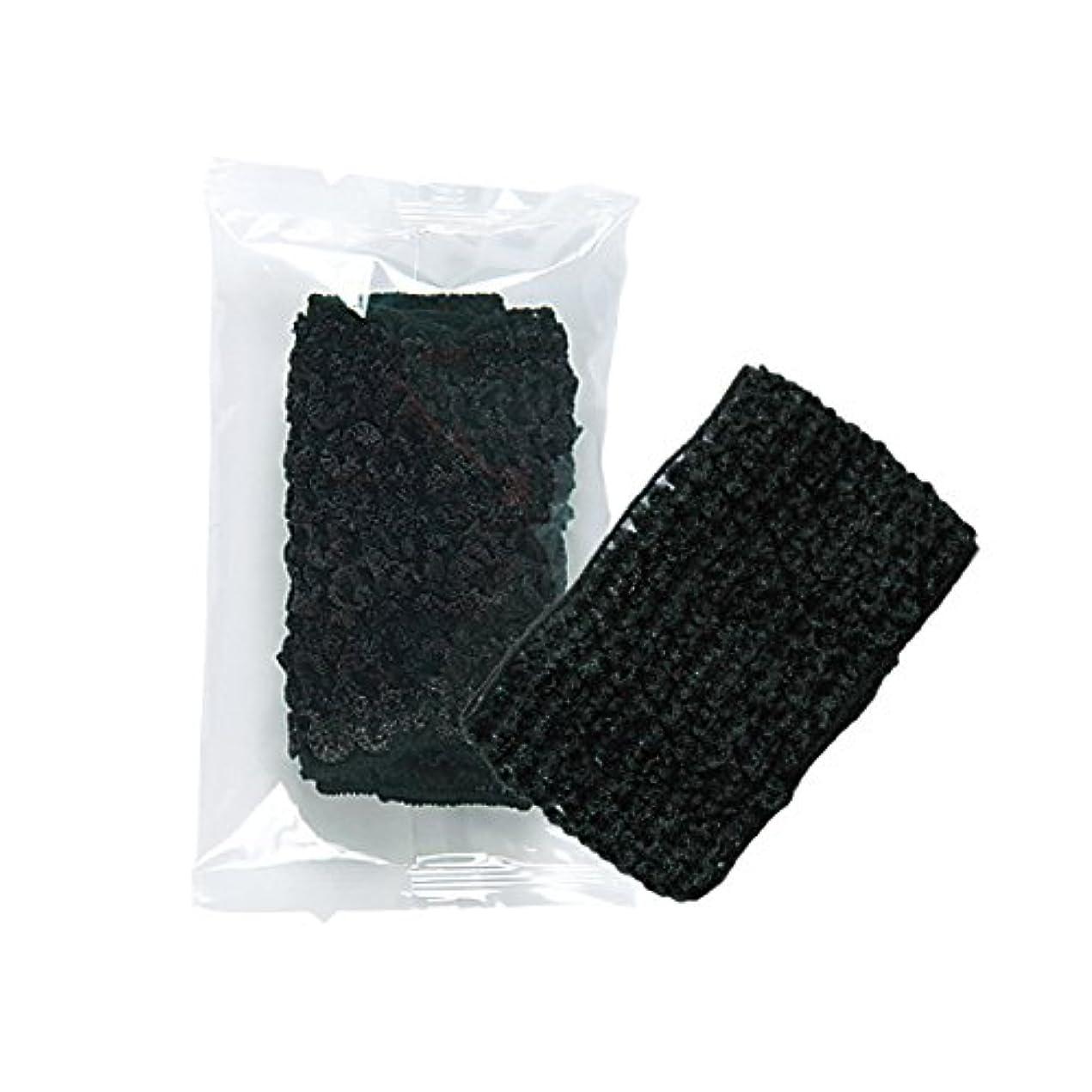 支出残忍な外出ホテル業務用 ヘアネット(黒)OP袋 100個