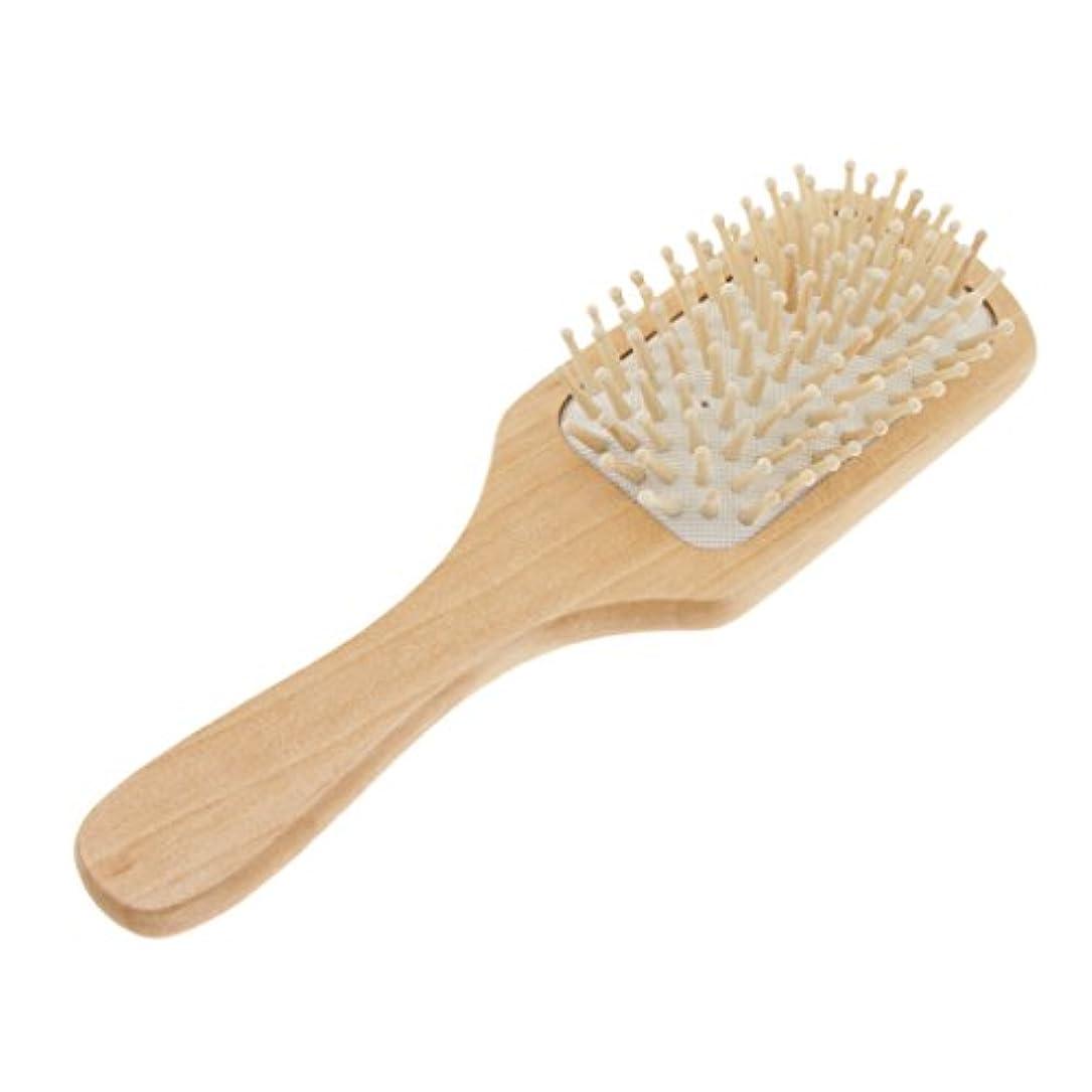 あごひげ取る耐久ヘアコーム ヘアブラシ 木製櫛 高品質 2タイプ - #1