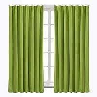 Bedsure カーテン 1級遮光 グリーン ドレープカーテン 幅100cm丈200cm 2枚組 断熱 保温 省エネ おしゃれ 昼夜目隠し 遮光カーテン 高級感のある生地 リビングルーム