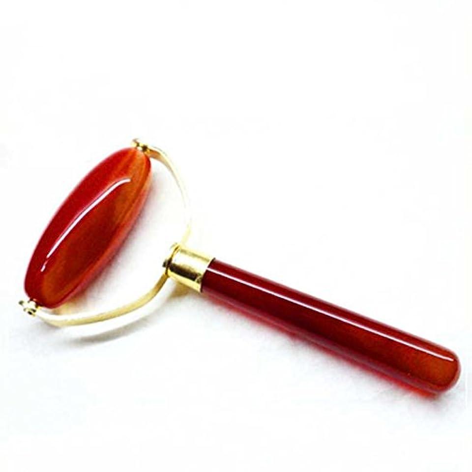 脅かすミニ樹皮Echo & Kern 瑪瑙フェイスマッサジローラー Single head agate Derma Roller