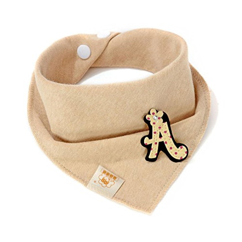 Letter &ストライプbaby-girl-boys-kids-cotton-triangle-head-scarf-bandana-bibs-saliva-towel-dribble