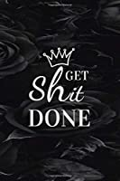 Get Shit Done. 2020-2024 Planner ,Black Funky Rainbow Unicorn 5 Year: Planner with 60 Months Spread View Calendar. Pretty Five Year Organizer, Agenda, Schedule Notebook and Business Planner.