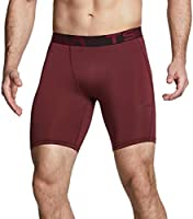 TSLA 1, 2 Pack Men's Athletic Compression Shorts, Sports Performance Active Cool Dry Running Tights